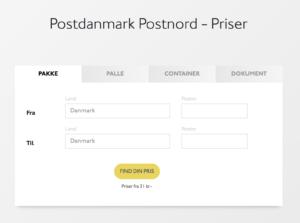 Post Danmark priser