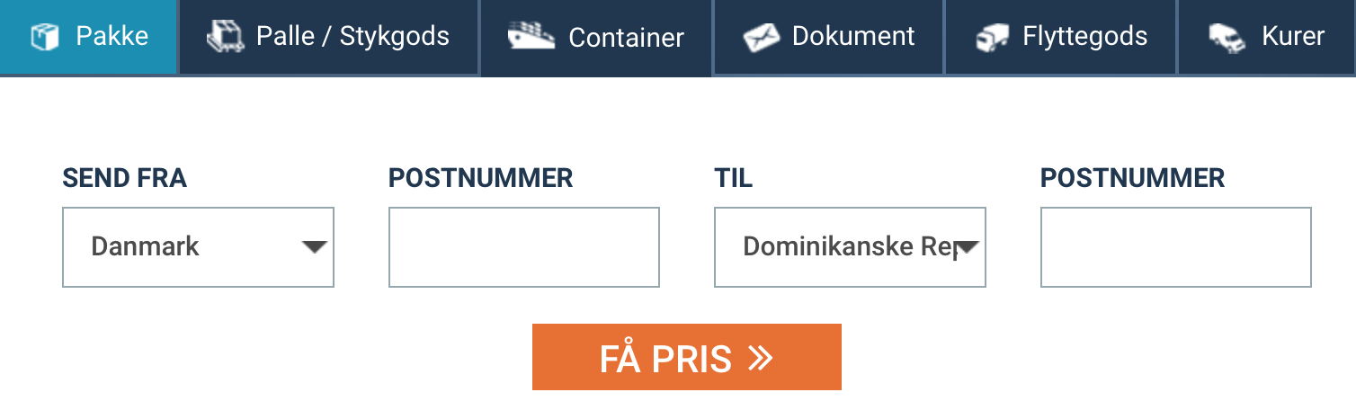 send pakke til Dominikanske Republik billigt