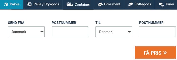 Billig fragt og pakkepost Danmark