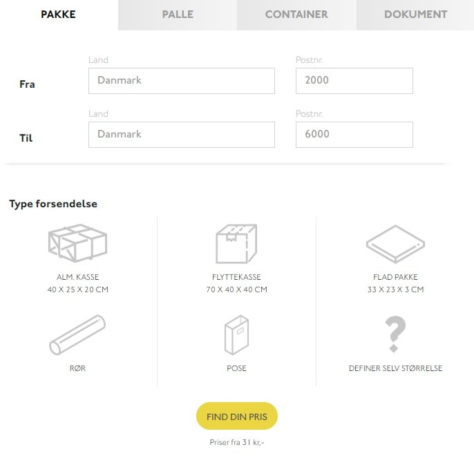 send pakke til Ukraine
